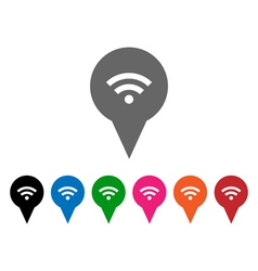 Wi-Fi pointers vector image vector image