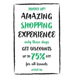 Amazing shopping experience up to banner vector