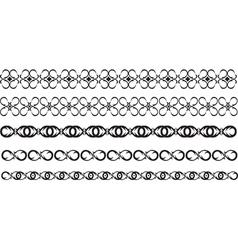 black border vector image