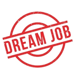 Dream Job rubber stamp vector image