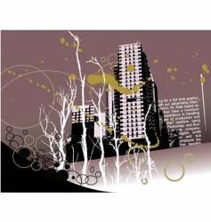 City grunge landscape vector