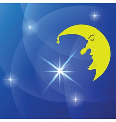 moon background vector image