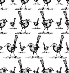 Seamless of bird drawing pattern vector