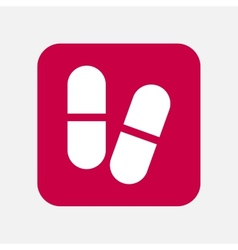 Medicine pill icon vector