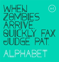 Modern font alphabet letters vector