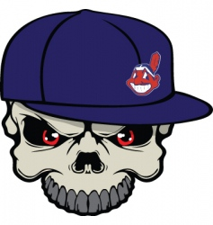 Indians skull vector image