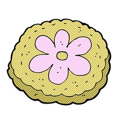 Comic cartoon baked biscuit vector