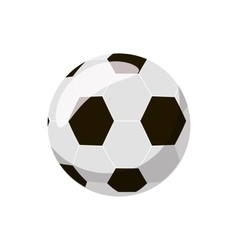 Soccer ball icon cartoon style vector
