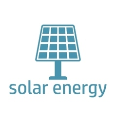 Green energy logo solar panel vector