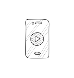 Smartphone sketch icon vector image