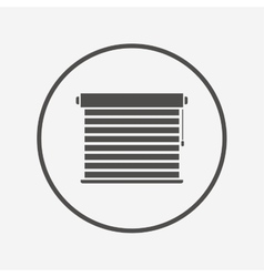 Louvers sign icon window blinds or jalousie vector