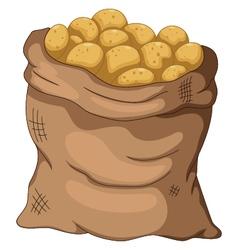collection potato cartoon on the sack vector image