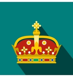 A royal crown icon flat style vector