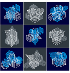 Abstract construction isometric designs vector