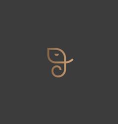 abstract elephant logo design creative vector image