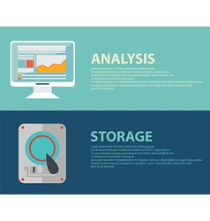 Analytics icons vector image vector image