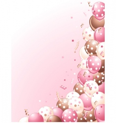 balloons on a pink background vector image