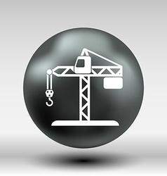 Building crane icon button logo symbol concept vector