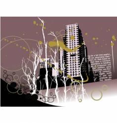 city grunge landscape vector image