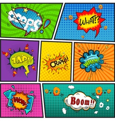 Comic speech bubbles background divided by lines v vector
