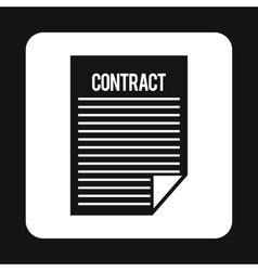 Contract icon simple style vector image vector image
