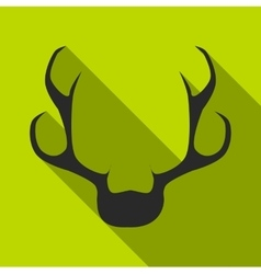 Deer horns icon flat style vector