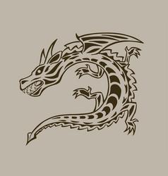 dragon ink hand drawn vector image vector image