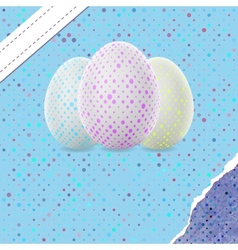 Easter Background with Decorated Eggs EPS 8 vector image vector image