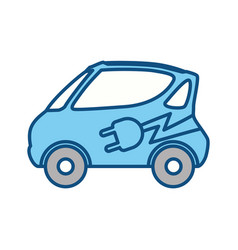 Electric vehicule car vector
