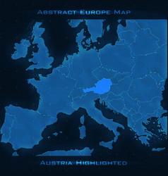 Europe abstract map austria vector
