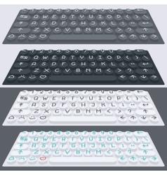 Flat modern keyboard alphabet buttons vector