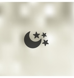 Full moon icon on blurred background vector