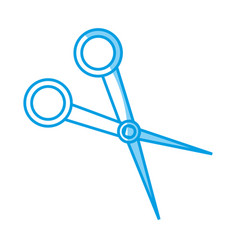 Hair scissors icon vector