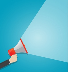 hand holding megaphone vector image vector image