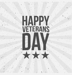 Happy veterans day text vector
