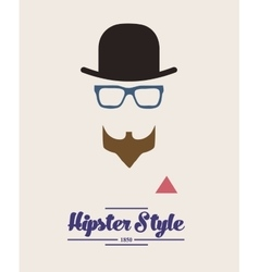 hipster style background vector image