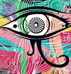 Horus eye abstract art vector