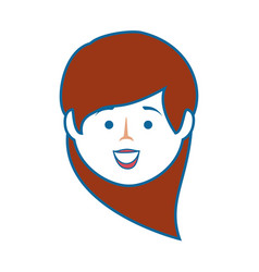 isolated cute woman face vector image vector image