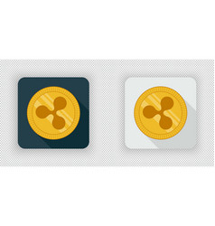 Light and dark ripple crypto currency icon vector