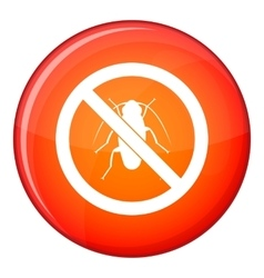 No cockroach sign icon flat style vector