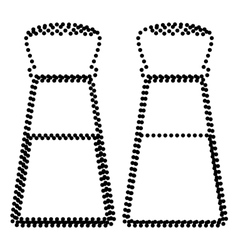 Salt and pepper sign vector