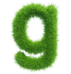 small grass letter g on white background vector image vector image