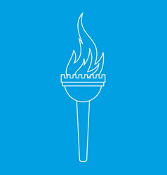 Torch icon outline style vector