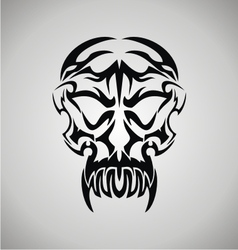 Tribal demon skull vector