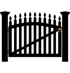 White gate with handle vector image vector image