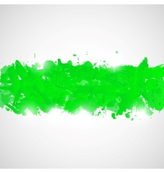 Abstract background with green paint splashes vector