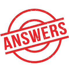 Answers rubber stamp vector
