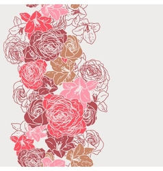 Elegance Seamless wallpaper pattern with roses vector image
