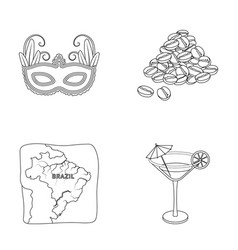 Brazil country mask carnival  brazil country vector