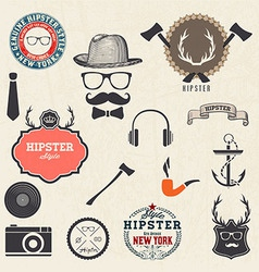 Hipster style design elements vector